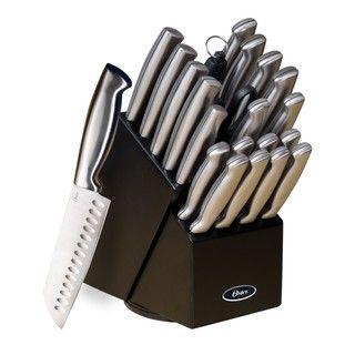 Oster Baldwyn 22 piece Stainless Steel Cutlery Block Set
