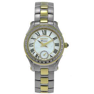 Seiko Womens Premier Two tone Steel Diamond Watch