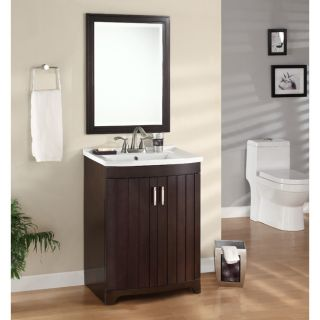 Morgan Espresso Sink and Mirror Vanity Set