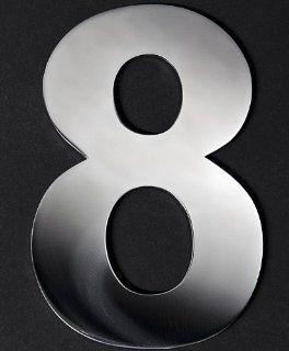 Edelstahl Buchstaben Zahlen rostfrei selbstklebend 3D Schrift 8 11cm