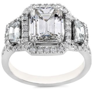 18k White Gold 2 1/2ct TDW Diamond Engagement Ring