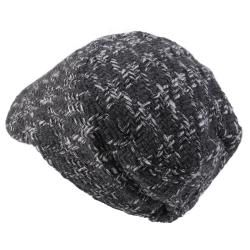 Journee Collection Womens Tweed Button Accent Newsboy Cap