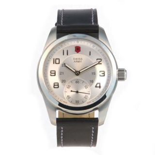 Swiss Army Mens Ambassador Mechanical Self Winding Silver Dial Watch