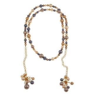 Kenneth Jay Lane Goldtone Multi colored Faux Pearl Necklace