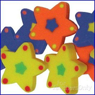 Mini Star Erasers   144 per set