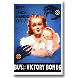 Keep These Hands Off   Vintage Reprint Poster: Everything