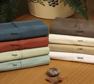 Imperial 440 Thread Count Stripe 6 piece Cotton Sheet Set