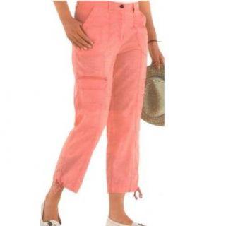 adonia mode Modisch aktuelle 7/8 Cargo Hose m.Leinen Flamingo