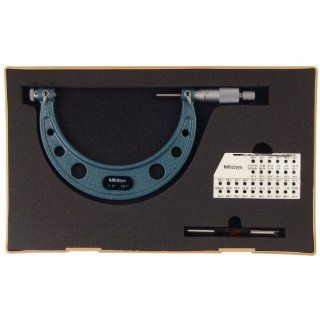 Mitutoyo 126 141 Screw Thread Micrometer, Interchangeable Anvil