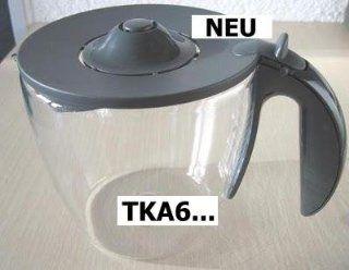 Ersatzkanne / Glaskanne Bosch Kunststoff grau für TKA6