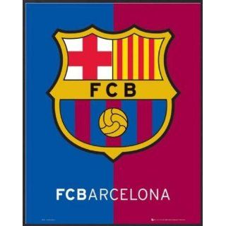 Fußball Mini Poster und Kunststoff Rahmen   FC Barcelona, Wappen (50