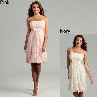 Issue New York Womens Lace Bubble Hem Dress