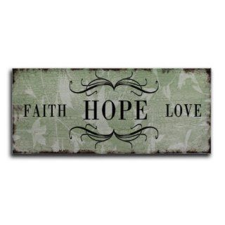 Blechschild Faith Hope Love Shabby Nostalgie Schild Metallschild