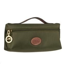 Longchamp Le Pliage Army Green Nylon Cosmetic Bag