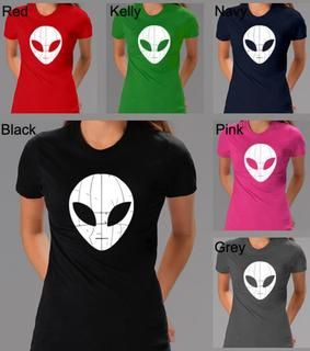 Los Angeles Pop Art Womens Alien Crewneck Tee