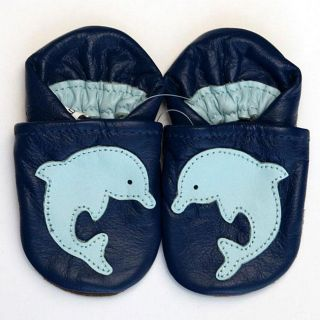 Baby Pie Blue Dolphin Leather Boys Shoes