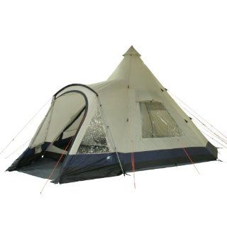 10T Outdoor Equipment Indianer  Tipi  Zelt Apache 600+, beige / blau