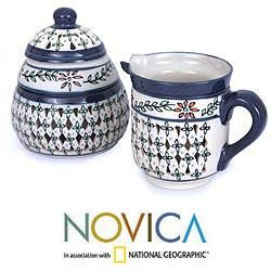 Ceramic Sierra Wonders Creamer and Sugar Bowl Set (Mexico