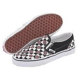 Vans Kids Classic Slip On™ (Toddler/Youth) (Lil Lady Bugs) Black