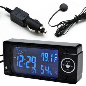 Auto kfz Innen /Außen Thermometer Hygrometer Digital