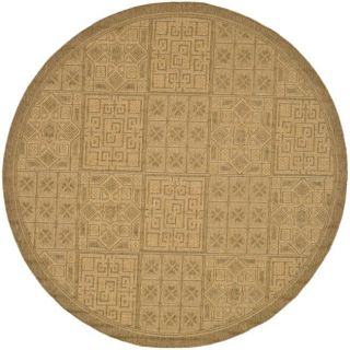 Indoor/ Outdoor Gold/ Natural Rug (67 Round)