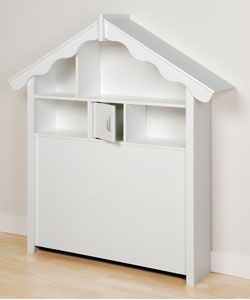 Winslow White Dollhouse Style Twin Headboard