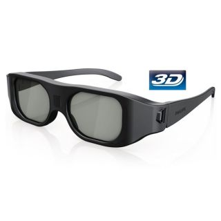 Lunettes 3D Actives   Couleur noir   Poids 70g   Technologie active 3D