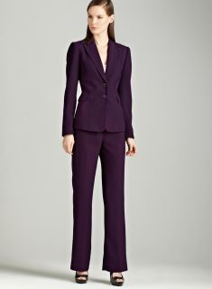 Tahari Grape two button pants suit