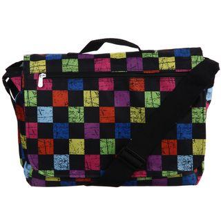 Bright Checker All over Print Messenger Bag