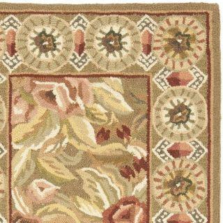 Hand hooked Chelsea Eden Multi/ Brown Wool Rug (26 x 10)