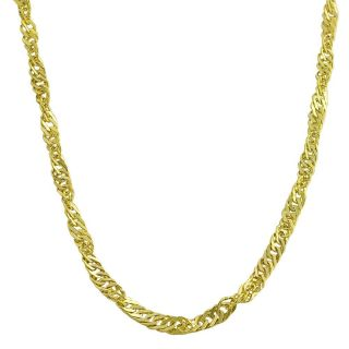 10k Yellow Gold 18 inch Singapore Necklace
