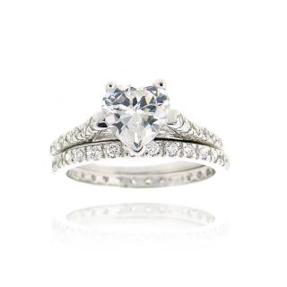 Icz Stonez Sterling Silver Cubic Zirconia Bridal Ring Set Today $28