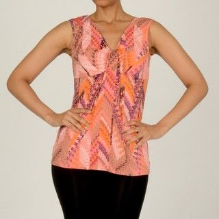 AnnaLee + Hope Womens Abstract Knotted Tank