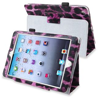BasAcc Purple Leopard Leather Case with Stand for Apple® iPad Mini