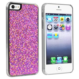 BasAcc Purple Bling Snap on Case for Apple® iPhone 5