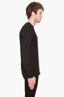 KRISVANASSCHE Black Long Sleeve Shirt for men