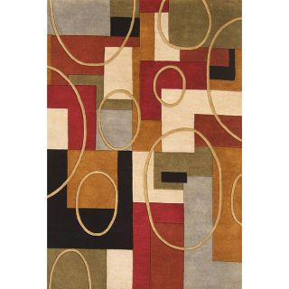 Hand Made Metro Classic Multi color Wool Area Rug (6 x 9) Today $