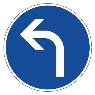 Verkehrsschild / Verkehrszeichen Fahrrichtung Pfeil links gebogen 420