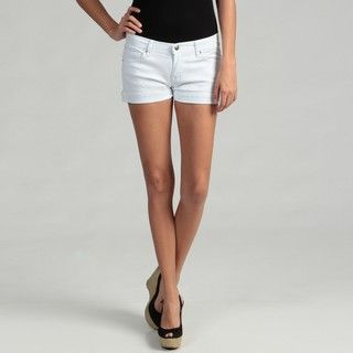 51 Juniors White Stretch Denim Shorts