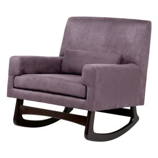 Microsuede Modern Rocker in Plum