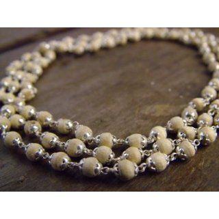 Tulsi Tulasi 108 Beads Japa Mala Pure 92.5 % Silver Cap