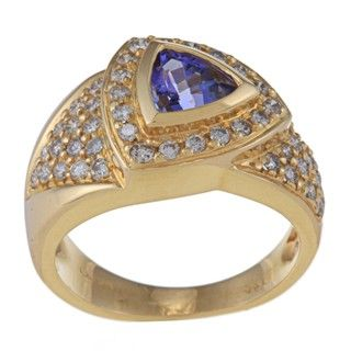 Encore by Le Vian 14k Gold Tanzanite and 5/8ct TDW Diamond Ring (M N