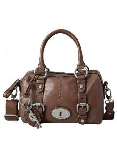 Fossil Maddox Vintage Small Satchel   Dark Brown: Schuhe