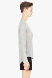 Helmut Pale Grey Destroyed Boucle for women