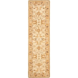 Hand made Silver/ Light Brown Hand spun Wool Rug (23 x 12
