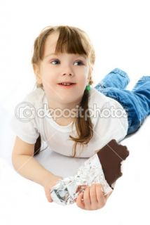 Little girl eating chocolate  Stock Photo © Svetlana Khvorostova