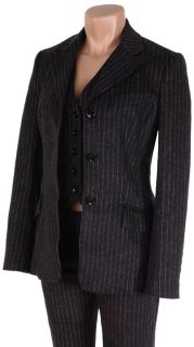 Dolce & Gabbana Womens Charcoal Pinstripe Suit