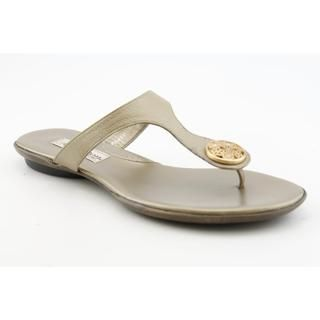 Brighton Womens Pansy Leather Sandals (Size 7.5)