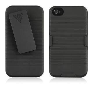 BasAcc Black Swivel Holster with Stand for Apple iPhone 4/ 4S