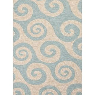 Coastal Blue Indoor/ Outdoor Rug (5 x 76)